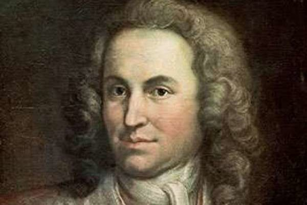 A painted image of the composer Bach