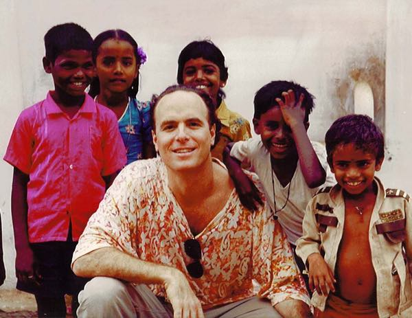 Dr. Weiss with kids from India