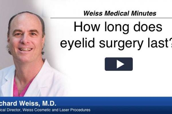 Dr Weiss explains how long eyelid surgery lasts and why.